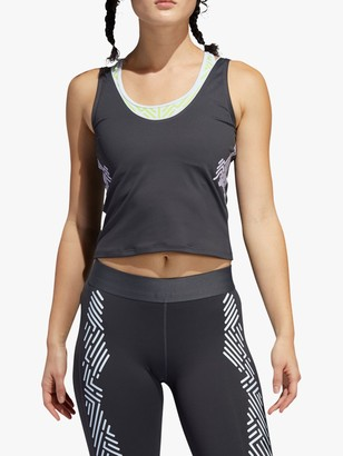adidas Alphaskin Training Tank Top, Grey Six