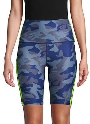 Wear It To Heart Camouflage-Print High-Waist Shorts