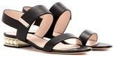 Nicholas Kirkwood Casati Embellished Suede Sandals