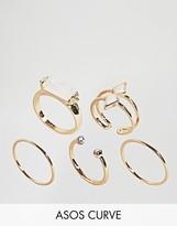 Asos Pack of 5 Faux Opal Rings