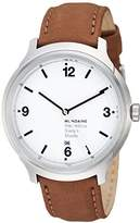 Mondaine Men's Quartz Watch with White Dial Analogue Display and Brown Leather Strap MH1.B1210.LG