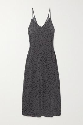 Ksubi Arkanum Leopard-print Silk-crepe Midi Dress - Black