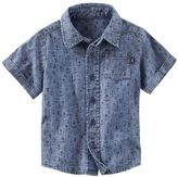 Osh Kosh Toddler Boy Anchor Pattern Chambray Button-Down Shirt