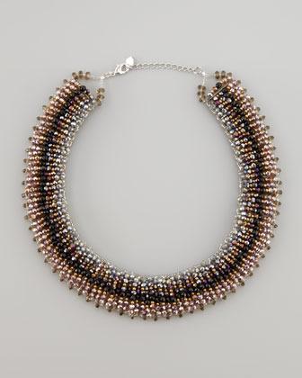 Nakamol Iridescent Tribal Necklace, Plum