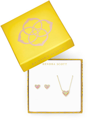 Kendra Scott Ari Heart Pendant Necklace and Earrings Set