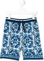 Dolce & Gabbana Majolica print shorts - kids - Cotton - 10 yrs
