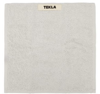 Tekla - Organic-cotton Washcloth - Light Grey