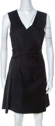 Marc by Marc Jacobs Black Draped Sleeveless Cocktail Dress M