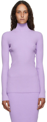 MM6 MAISON MARGIELA Purple Tight Knit Turtleneck