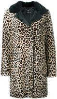 Twin-Set leopard print coat