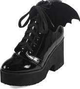 Iron Fist Womens Bat Wing Patent Boot