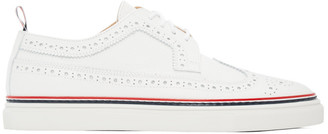 Thom Browne White Longwing Brogue Sneakers