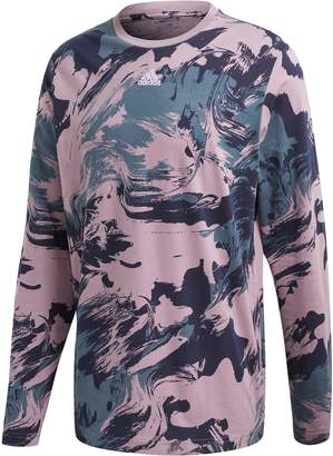 adidas Injection Pack Print Long Sleeve Crewneck T-Shirt