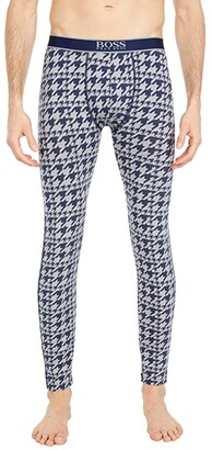 HUGO BOSS Long John 24 Print (Navy/Grey Houndstooth) Men's Casual Pants
