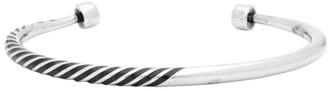 Saint Laurent Silver Tribal Half-Twisted Bracelet