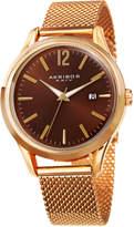 Akribos XXIV Men's Mesh Bracelet Date Watch, 41mm