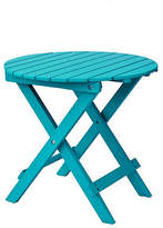 One Kings Lane Adirondack Round Side Table - Turquoise