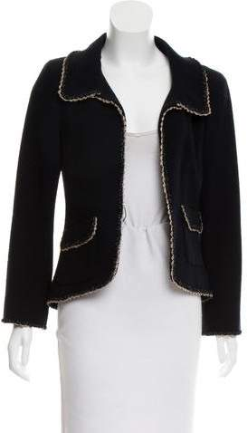 Chanel Metallic-Trimmed Tweed Jacket