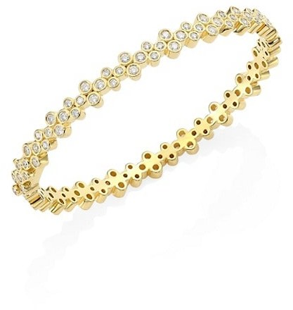 Thumbnail for your product : Temple St. Clair Trio Eternity Diamond Bangle