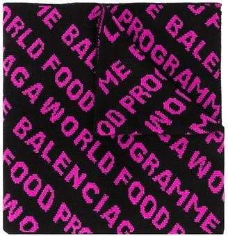 Balenciaga World Food Programme logo scarf