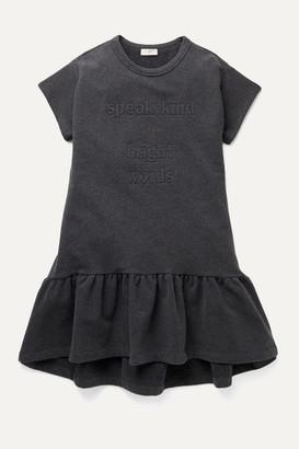 Brunello Cucinelli Kids - Ages 8 - 10 Embellished Stretch-cotton Jersey Dress