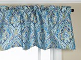 Style Master Stylemaster Zoe 56 by 17-Inch Lined Printed Scalloped Valance, Cobalt