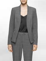 Calvin Klein Luxe Glen Plaid Suit Jacket