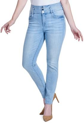 Seven7 Women's High Rise Waist-Shaper Skinny Jeans