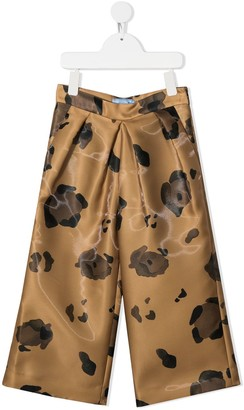 Mi Mi Sol Floral-Print Wide-Leg Trousers