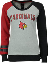 adidas Girls' Louisville Cardinals Crew Fleece Sweatshirt