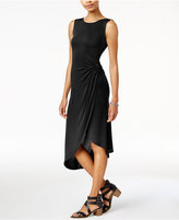 Bar III Twisted Faux-Wrap Dress, Created for Macy's