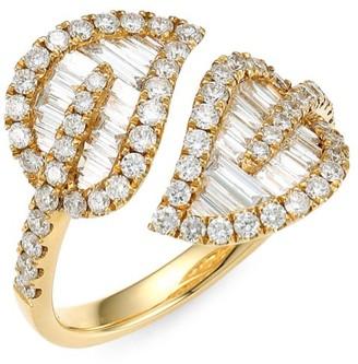 Anita Ko Medium 18K Yellow Gold & Baguette Leaf Diamond Ring