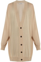 Jil Sander Long-line wool cardigan