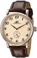 Adee Kaye Men's AK9061N-MRG/RG Vintage Mechanical Analog Display Mechanical Hand Wind Brown Watch