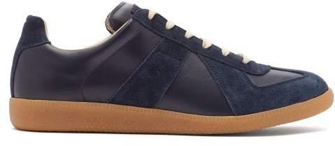 9fe5bb0ae52 Replica Low Top Suede Trainers - Mens - Dark Blue