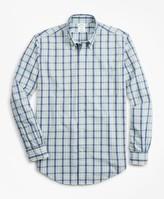 Brooks Brothers Milano Fit Plaid Seersucker Sport Shirt