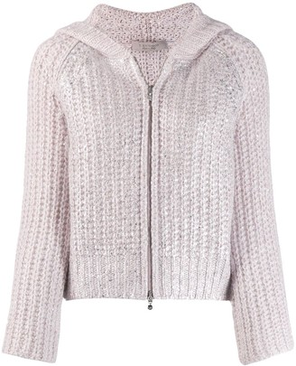 D-Exterior Chunky Knit Jacket