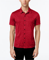 Alfani Men's Ethan Heather Short-Sleeve Shirt, Classic Fit