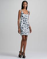 Nicole Miller Sleeveless Printed Stretch-Cotton Dress