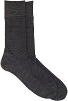 Barneys New York Men's Diamond-Knit Wool-Blend Mid-Calf Socks