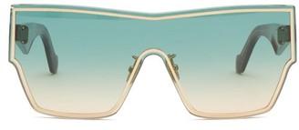Loewe Gradient Shield-lens Acetate Sunglasses - Light Blue