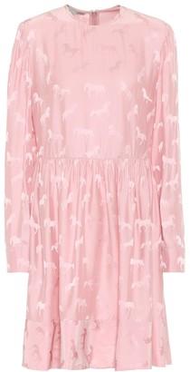 Stella McCartney Silk-blend jacquard dress