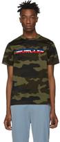 Moncler Green Camo Logo T-Shirt