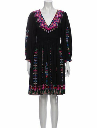 Ulla Johnson Silk Mini Dress Black