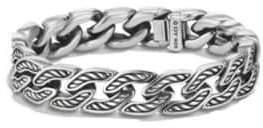 David Yurman Maritime Sterling Silver Curb Link Bracelet