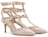 Valentino Rockstud Patent Leather Kitten-heel Pumps