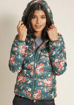 Blutsgeschwister Floral Puffer Jacket in M by from ModCloth