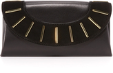 Diane von Furstenberg Leather & Suede Bar Stud Envelope Clutch