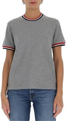 Thom Browne Tricolour Rib Trim T-Shirt