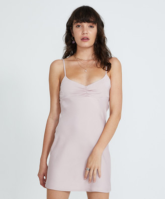 Alice In The Eve Billie Vintage Satin Slip Dress Pink